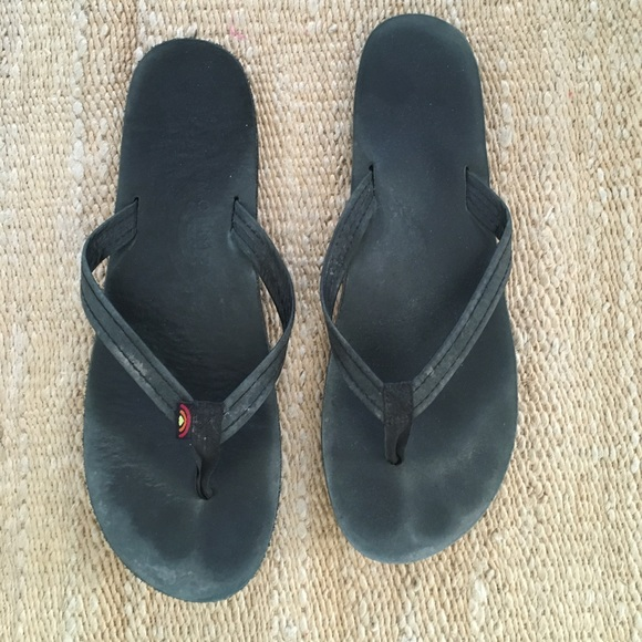 Black Rainbow Sandals | Poshmark